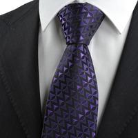 Purple Black Arrow Pattern Novelty Men's Tie Necktie Wedding Holiday Gift       316