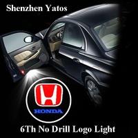 6th generation Opel car projector logo lights & door Ghost shadow light /3D logo LED No Drilling