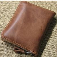 Little bee Little bee Little bee Short design cowhide wallet male women's general zipper bag coin purse genuine leather