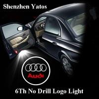 6th car projector logo lights & door Ghost shadow light /3D logo LED for Mitsubushi/Renault/Suzuki