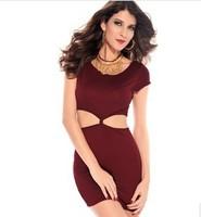 2014 New Sexy O Neck Sexy Club Summer Dress