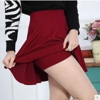 2014 new spring women bust waist skirt tutu skirt pleated winter sheds anti emptied sundress ultra-tylish multicolored miniskirt
