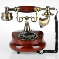Fashion antique telephone wood rope vintage fashion electric home  Good quality telephone