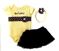 Baby butterfly headdress & Baby Boy's Girl's Dress Suits Romper Type H6324 1LOT/6PCS