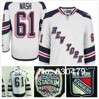 Free Shipping new arrival 2014 Stadium Series Premier New York Rangers Ice Hockey Jerseys 61 Rick Nash White Jersey