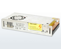 300W  Multiple Output Switching Power Supply;85 ~ 265VAC input;12V 25A 24V 12.5A DC output, CE  ROHS     led strip display power
