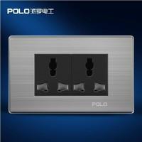Free Shipping, POLO luxury wall socket panel,110~250V, 6-hole Multifunction socket, power electrical outlet, plug
