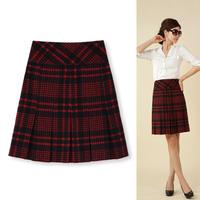 2013 autumn women's plaid skirt bust skirt quinquagenarian  a-line skirt female plus size 1510 customize