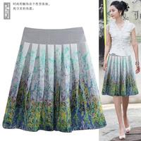 2013 pleated skirt female bust skirt