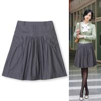 2013 women's bust skirt cotton slim female skirt a-line skirt pleated skirt plus size 912