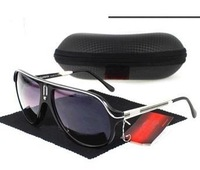 Men and women fashion big box frame sunglasses brand sunglasses and cloth