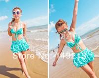 Lady Bikini Swimwear & Swimsuit Beach Bikini Dress Pure Girl Beachwear Fast Freeshipping