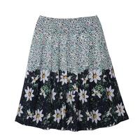2014 women's new arrival quinquagenarian plus size  chiffon bust skirt medium skirt pleated skirt summer