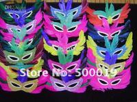 Wholesale - feather mask mardi gras mask halloween maskFast shipping