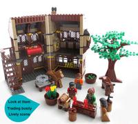 Ausini Building Blocks Medieval Farm 28002 Educational  Assembling Blocks Hot Toy for Children Model building Gift