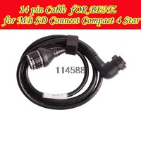 Great sale !!! For BENZ 14 pin Cable for MB SD Connect Compact 4 Star Diagnosis Free Shipping