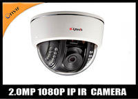 Free shipping HD 1080P 2.0MP CCTV Network  IP dome Camera 20m IR Onvif/push video/iphone andriod 3G control/motion detection/CMS