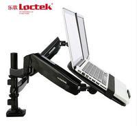 Laptop mount computer monitor holder rack dual notebook mount pneumatic
