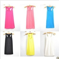 2012 summer all-match candy color tank female sleeveless women's basic vest 100% cotton