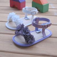 Latest Original Cotton Absorbent Melaleuca soft soled Flower single baby girl princess first walker sandals shoes white purple