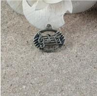 100pcs/lot Zinc alloy bead Antique Bronze Plated 20*17MM Musical notation Shape Charms Pendants Fit Jewelry Making DIY JHA3037