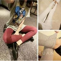 2014 all-match rib knitting cotton female legging trousers