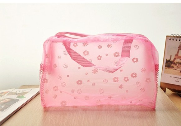 2014 new transparent pvc bag water proof cosmetic bag girls wash bag for outdoor sports cosmetic organizer for whole sale(China (Mainland))