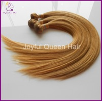 Silky 27# Virgin Straight Indian Hair weave 3pcs lot 5A Grade 14-28inch Free Shipping Dark Blonde real cheap remy hair straight