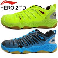 Original LI DAN Badminton Shoe LI-NING Hero 2 TD AYTJ019 Badminton Shoe  Light Ventilate Antiskid Sneaker , Lining Tennis Shoe