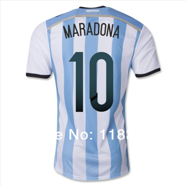 Top Genuine World Cup Argentina MARADONA Soccer Shirt Sale Up To 70% Off(China (Mainland))