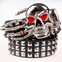 Gripper men belt women fashion and personality rivet joker decorative belt. Free shipping