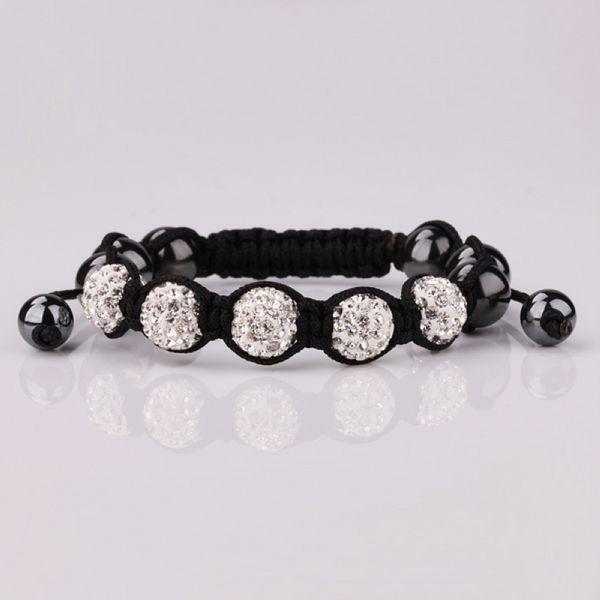все цены на  Браслет на шнурках Clay+Best Crystal+Hematite Shamballa 10 CZ Shambala Shamballa SHB049  в интернете