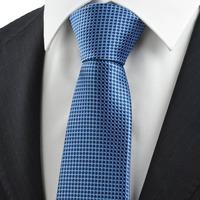 spring 2014  Checked Navy Blue JACQUARD Men's Tie Formal Necktie Wedding Holiday Gift   343