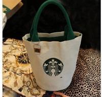 Starbucks barrel Lunch Bag Handbag with canvas bag shopping bag