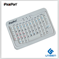 Cheapest iPazzPort bluetooth wireless white keyboard factory supply  factory supply free shipping
