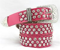 fashion Female belt leather cowhide diamond studded leather belt. Free shipping