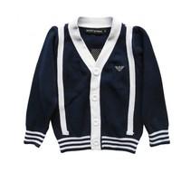 2014 new  fashion boy's long sleeve bule black color stripedchildren thirts  ,kids ,Popular children Hoodies & Sweatshirts