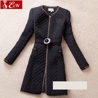 womens coat fashion spring autumn jacket Novelty causal slim clothes Comfortable cotton Diamond Belt plus size 3XL 4XL 5XL