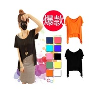 Candy color Loose t-shirts blouse