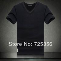 Men Brand T-Shirts Man Printing Tshirts Fashion V-neck T Shirt Plus Size 4 Size M-XXL Free Shipping