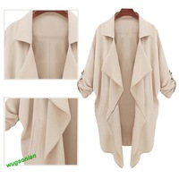 Fashion Women's Coat Jackets Spring Autumn Long Sleeve Outerwear 2Color 4Size