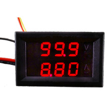 DC 0-100V 10A Dual Red LED Digital Voltmeter Ammeter Panel Amp Volt Gauge   #42065