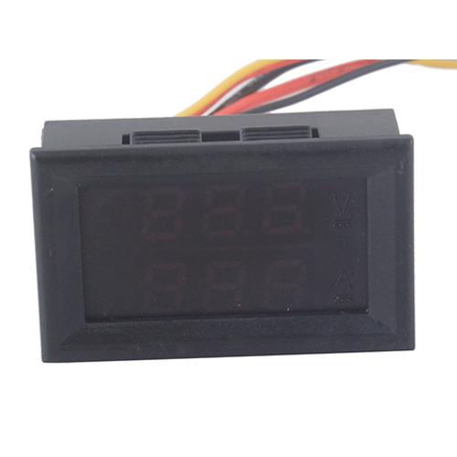DC 0 100V 10A Dual Red LED Digital Voltmeter Ammeter Panel Amp Volt Gauge 42065