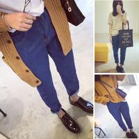 2014 spring women's loose high waist jeans female skinny pants harem pants female trousers