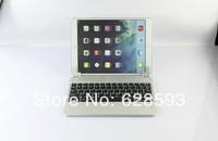 For Apple iPad Air iPad 5 Silver ABS+Aluminum Alloy Wireless Bluetooth Keyboard