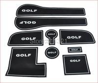 Fit For 2013-2015 Volkswagen golf 7  GOLF 7 Mk7 Gate Slot Pad,door slot cunshion,tank gasket,noctilucent cup mat/pad  9pcs/lot