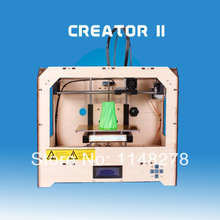 1pcs 3D printer -9 dual nozzle wite 1 pcs ABS 1.75mm filament By DHL area free shipping cost