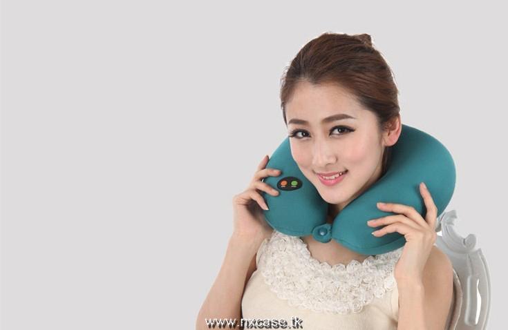 Travesseiro de massagem elétrica massagem de vibração massagem massagem em forma de u travesseiro cervical travesseiros de pescoço(China (Mainland))