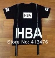 2014 men's HOOD BY AIR Been Trill  t-shirt double zipper short sleeve HBA fashion Round neck shirt tees shirts cotton Casual