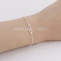 Wholesale 18K Gold Plated Fashion Vintage Infinity crystal Bracelet For Women Declaration of love bracelet free shipping